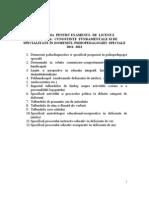 PROGRAMA PENTRU EXAMENUL DE LICENȚĂ 2012