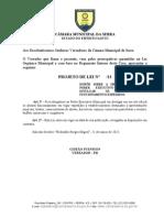 Projeto de Lei DIVULGAÇÃO DE ALVARAS