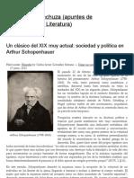 Un clásico del XIX muy actual_ sociedad y política en Arthur Schopenhauer _ El vuelo de la lechuza (apuntes de Sociofilosofía y Literatura)