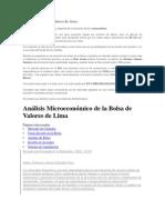 Análisis Microeconómico de la Bolsa de Valores de Lima