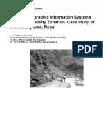 GIS in Slope Instability Zonation Kakani Area Nepal