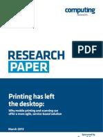 Printing Has Left the Desktop