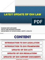 latest update osh regulation