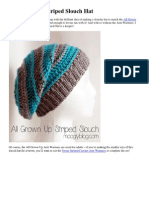 Striped Slouch Hat - All Grown UP