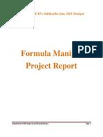 Formula Manipal Report