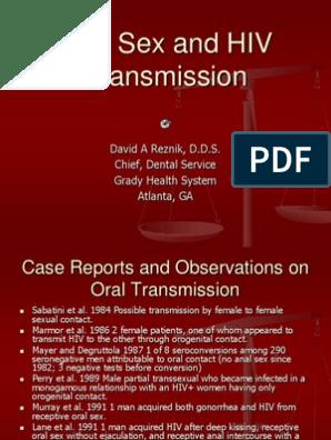 oral sex hiv transmission