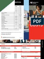 Seattle Cost Sheet