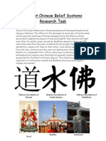 Ancient Chinese Belief Systems Research Task