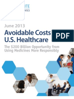 Avoidable Costs in Healthcare