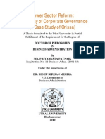 Power Sector Reform a New Way of Corporate Governance - A Thesis Submitted to Utkal University for Ph.D Degree by Priyabrata Patnaik