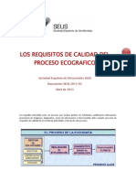 Los Requisitos de Calidad Del Proceso Ecografico