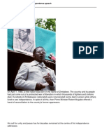 President Mugabes 1980 Independence Speech