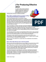 Guidelines for Producing Effective Documentation