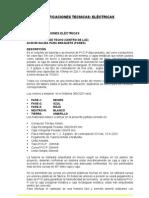 4. ESPECIFICACIONES ELÉCTRICAS