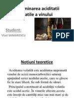 Determinarea Aciditatii Volatile a Vinului