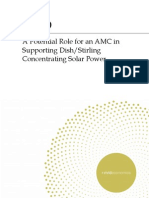 A Potential Role for an AMC in Supporting DishStirling Concentrating Solar Power