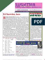 ASTROAMERICA NEWSLETTER DATED JUNE 18, 2013