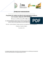 PROSPERER - ÉTUDE DE CAS PROGRAMME PAYS MADAGASCAR - La contractualisation comme moyen d'aider les petits producteurs à améliorer le prix de vente de leurs  produits au sein des filières maïs et manioc (source