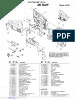 Makita Jigsaw M432 Parts Manual