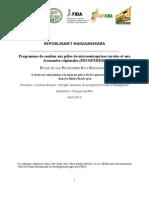 ÉTUDE DE CAS PROGRAMME PAYS MADAGASCAR Leviers et contraintes à la mise en place de la contractualisation dans la filière black eyes (source
