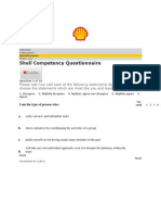 Shell India Competency Based Questionnaire