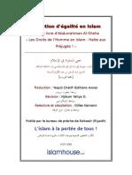 La notion d'égalité en Islam Tiré du livre d'Abdurrahman Al-Sheha « Les Droits de l'Homme en Islam