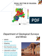 2012 Status of the Mineral Sector in Uganda