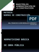 Normatividad básica de obra pública I