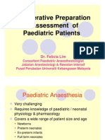 Pre-Op Preparation and Assessment of Pediatric Patients