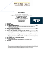 The Tomorrow Plan Steering Committee Agenda | June 2012