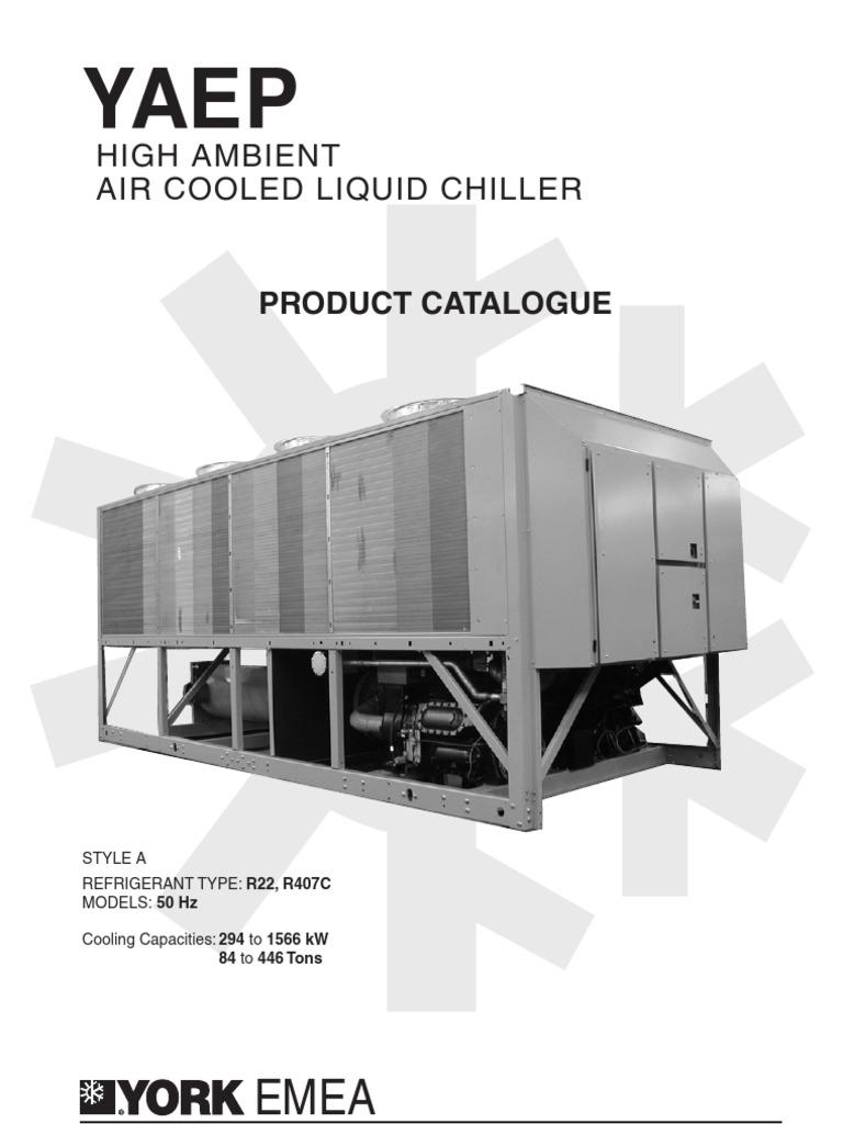 york yaep pc145gb 50hz 0304 1126592716 air conditioning heat rh scribd com york ycal chiller installation manual york ycaz chiller manual