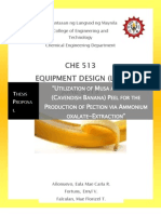 Thesis Proposal - Utilization of Cavendish Banana Peel for the Production of Pection via Ammonium Oxalate-Extraction