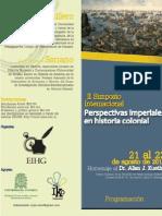 Programación y ponentes II Simposio Internacional Perspectivas Imperiales en Historia Colonial