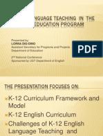 English Language Teaching in the K 12 Basic Education1