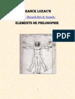 Franck Lozac'h Eléments de Philosophie