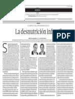 La desnutrición infantil - Miguel Jaramillo/Alan Sánchez - El Comercio - 190613