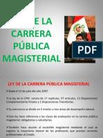 LEY DE LA CARRERA PÚBLICA MAGISTERIAL