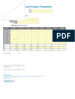 Project Management Template - Excel Project Timesheet
