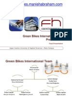 Green Bikes International Project Presentation FH WELS, Austria