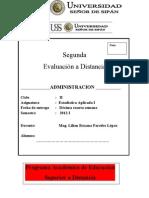 - Estadistica Aplicada I-2012-I SEGUNDA EVALUACIÓN A DISTANCIA