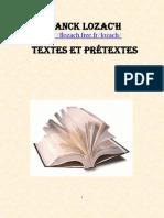 Franck Lozac'hTextes et Prétextes