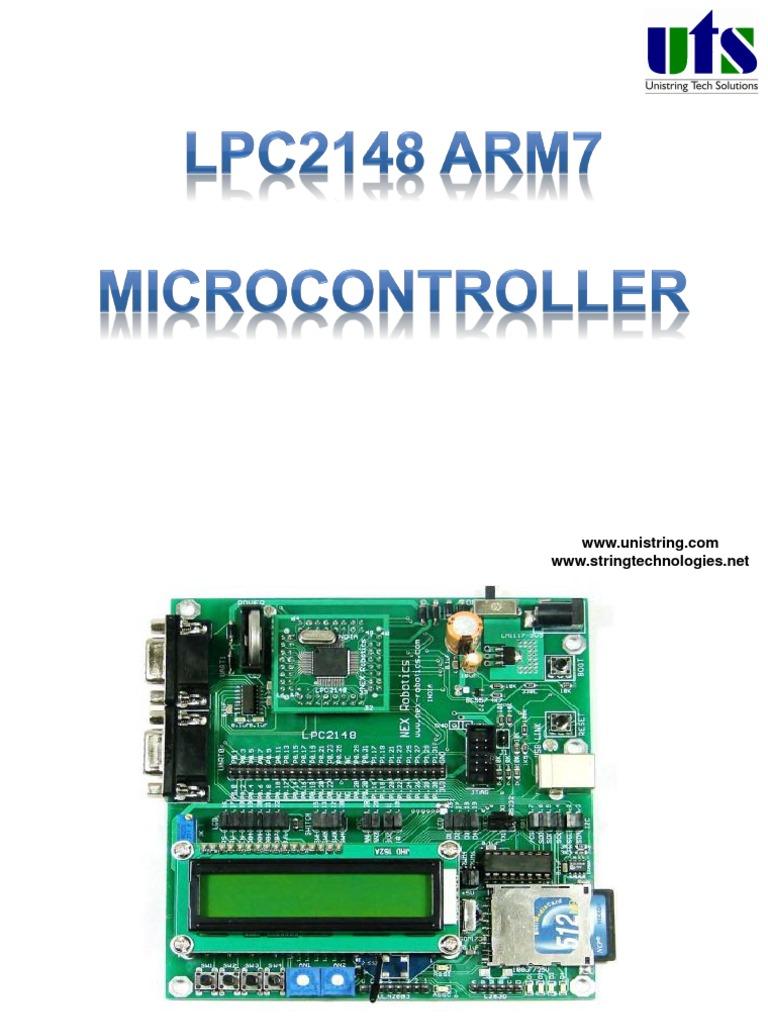 LPC2148 ARM7 microcontroller | Usb | Analog To Digital Converter