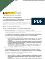 A descendientes de españoles - Ley de Memoria Historica