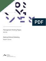 Defining Political Marketing