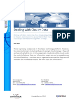 Dealing with Cloudy Data