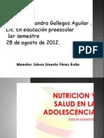 Nutricion y Salud en La Adolescencia. 1