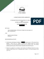 BC Teacher reprimand