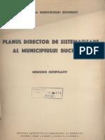 memoriu - planul director de sistematizare al municipiului bucuresti 1935
