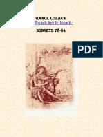 Franck Lozac'h Sonnets 78-84