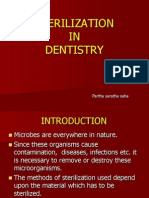 Sterilization in dentistry